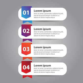 Infographic design template for business