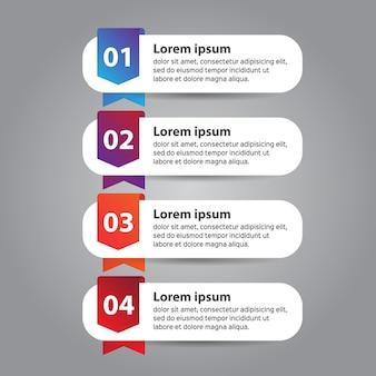 ビジネスのためのインフォグラフィックデザインテンプレート