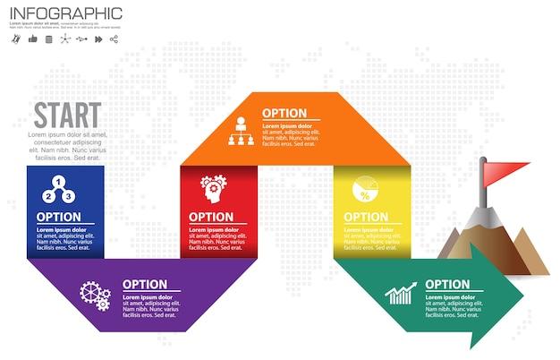 Шаблон инфографического дизайна с рамкой для вашего текста и фотографии
