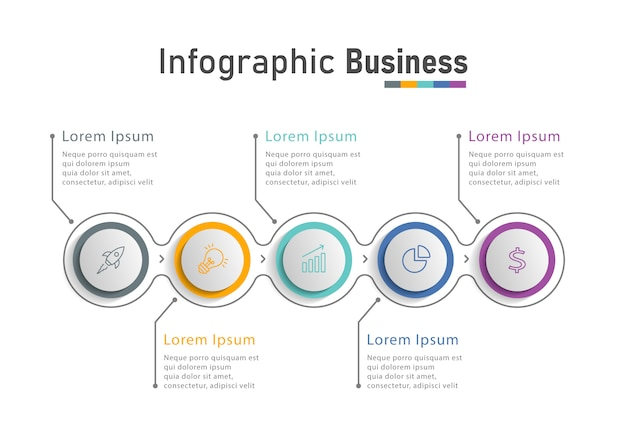 Infographic design template with icons