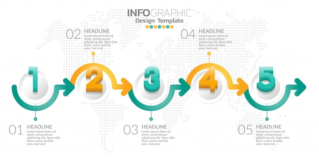 Infographic design template with options or steps.