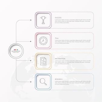 Шаблон оформления инфографики с вариантами