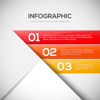 Инфографический шаблон дизайна с тремя шагами