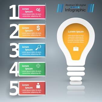 Инфографический шаблон дизайна