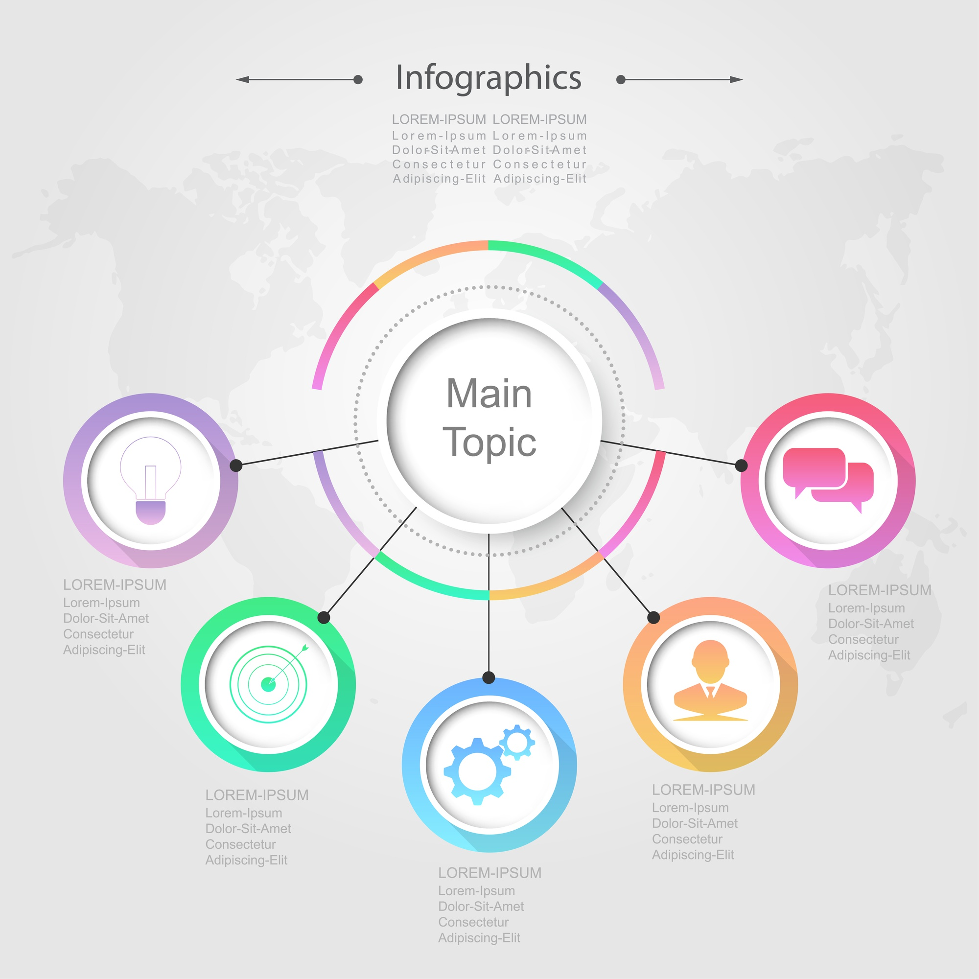 Infographic design vector Business concept
