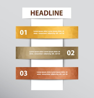 Infographic design with 3 steps