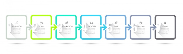 Infographic design with 7 options or steps. infographics for business concept.