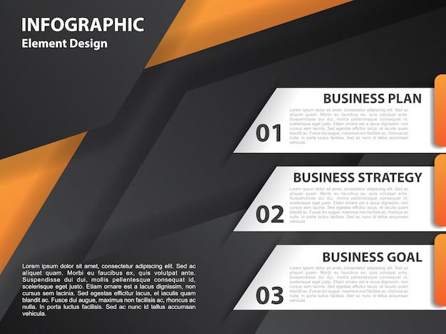 幾何学的な背景を持つインフォグラフィックデザイン