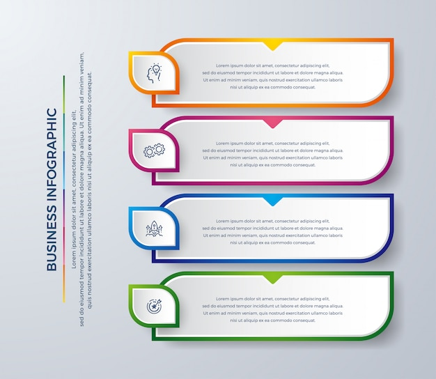 Infographic design with modern colors and simple icons.