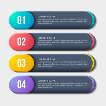Infographic design with steps