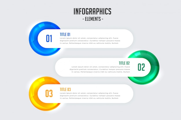 Infographic design with three steps