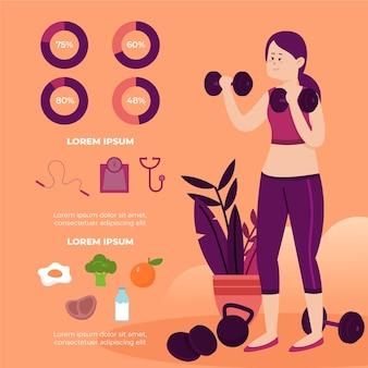 여자 훈련 infographic 디자인