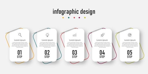 インフォグラフィックデザイン。 Premiumベクター