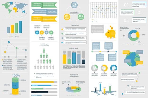 Инфографика разные элементы