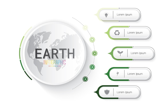 Infographic of earth