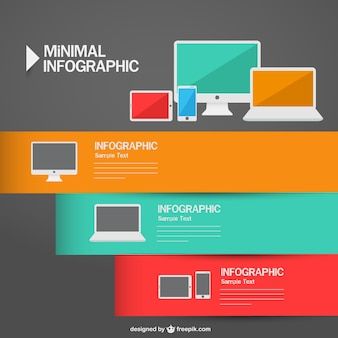 Infographic electronic devices minimal design