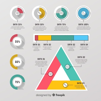 Infographic element collection flat design