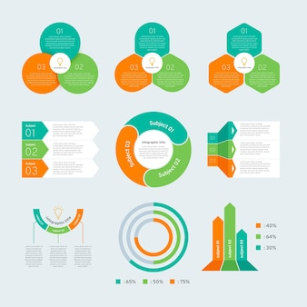 Infographic element collection in flat design