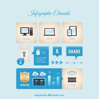 Collezione elemento infografica
