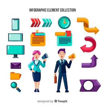 Infographic element collection
