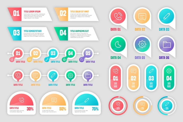Infographic 요소 컬렉션