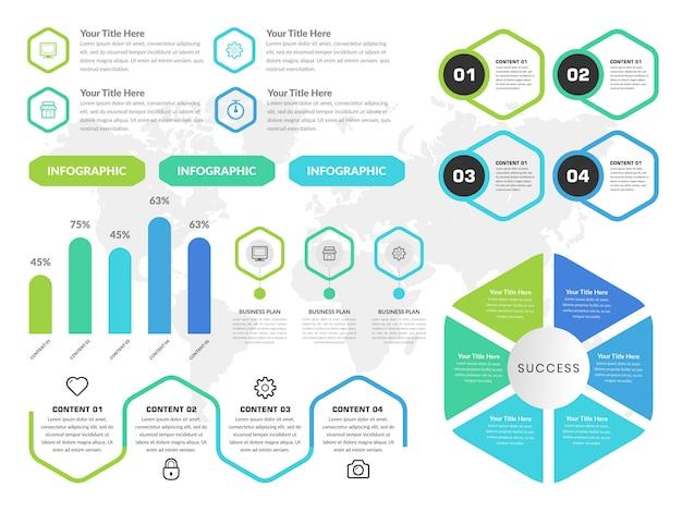 インフォグラフィック要素デザインコレクション