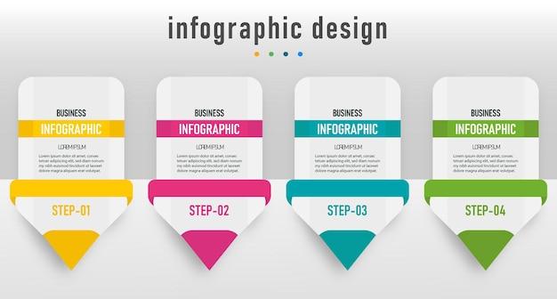 インフォグラフィック要素鉛筆図テンプレート