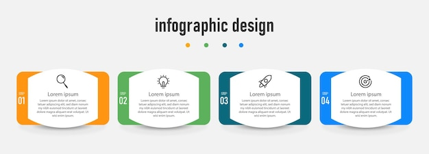 Infographic element professional steps template design