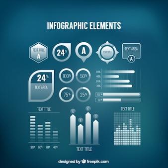 Insieme di elementi infografica