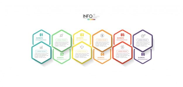 ステップを持つインフォグラフィック要素。プロセス、プレゼンテーション、図、ワークフローのレイアウト、情報グラフ、webデザインに使用できます。
