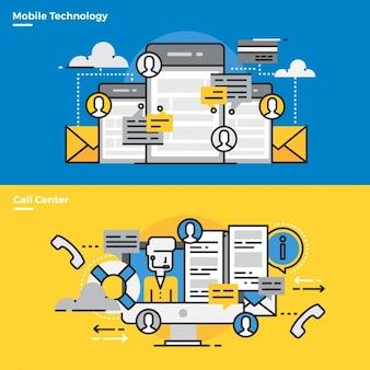 Elementi infographic su tecnologia mobile