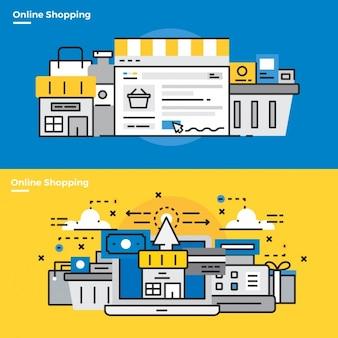オンラインショッピングに関するインフォグラフィック要素