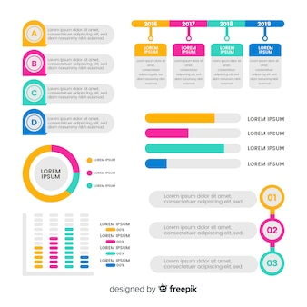 Infographic elements collection in flat style