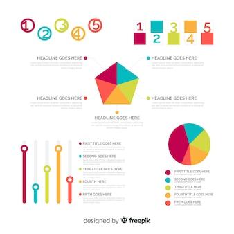 Коллекция элементов инфографики в плоском стиле