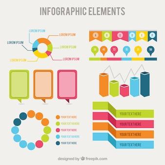 Elementi infographic in stile colorato