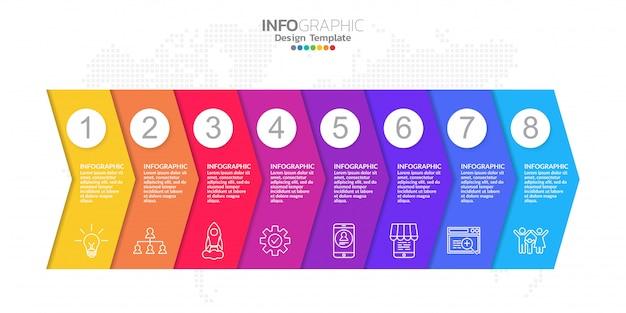Infographic elements for content, diagram, flowchart, steps, parts, timeline, workflow, chart.