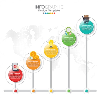 Infographic elements for content, timeline, workflow, chart.