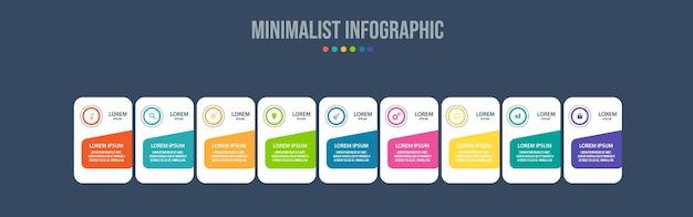 Шаблон визуализации данных инфографических элементов
