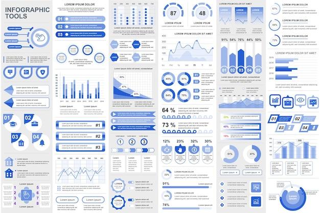 인포 그래픽 요소 데이터 시각화 벡터 디자인 차트 다이어그램 타임 라인 및 워크플로