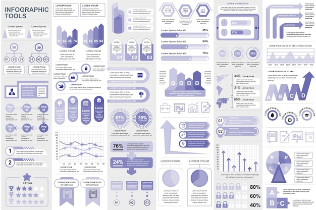 Инфографические элементы визуализация данных векторный дизайн информация графика