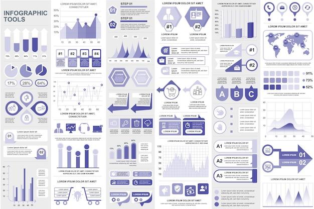 Infographic elements data visualization vector design info graphics