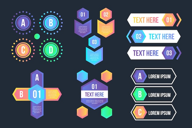 Infographic elements gradient