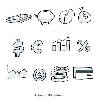 お金のインフォグラフィック要素