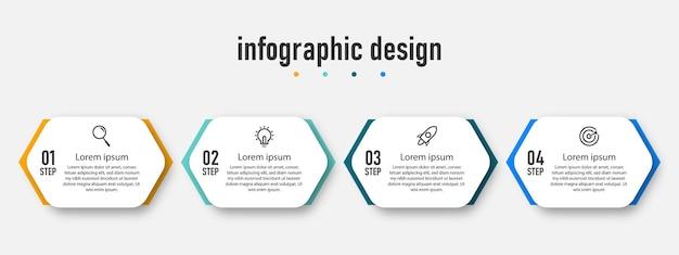Инфографики элементы шаг 4 бизнес шаблон дизайна