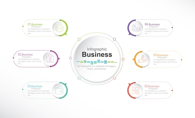 Infographic elements stock illustration infographic circle chart number 6