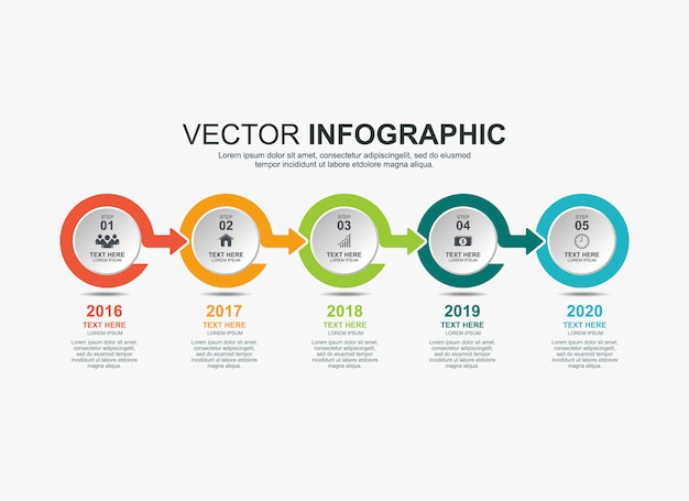 Infographic elements timeline process chart template