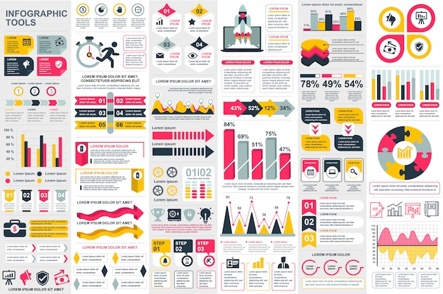 Infographic elements vector design template