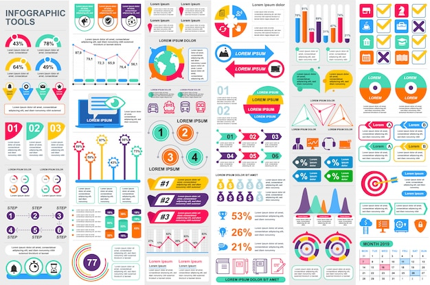 Infographic elements vector design template