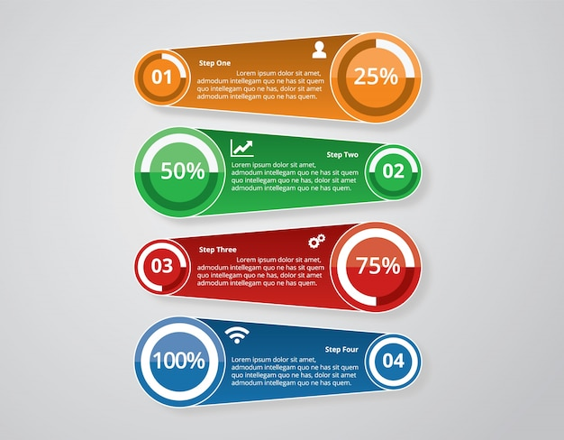 Infographic elements vectorial design