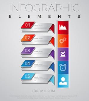 Infographic Elements With Bar Chart Template Design